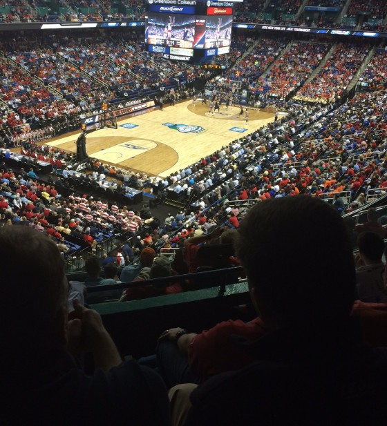 The ACC tournament in Greensboro, NC. Photo Credit R.E.